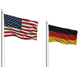 RENK LABECO Test Systems - American and German Flags
