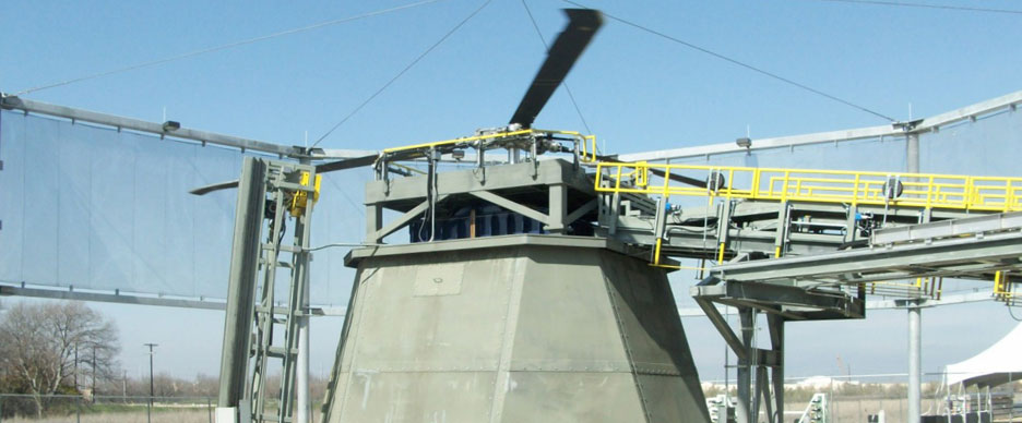 RENK LABECO Test Systems - Helicopter Blade Balance Test Stand